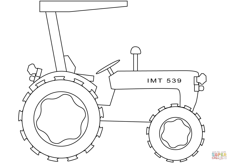 Desenho De Trator Simples Para Colorir