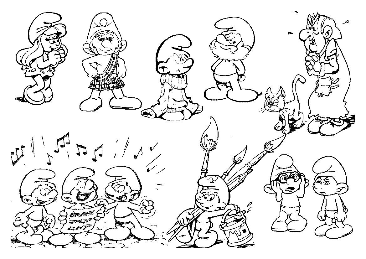 Desenhos Para Colorir Dos Smurfs – Imagens Para Imprimir No Jogos