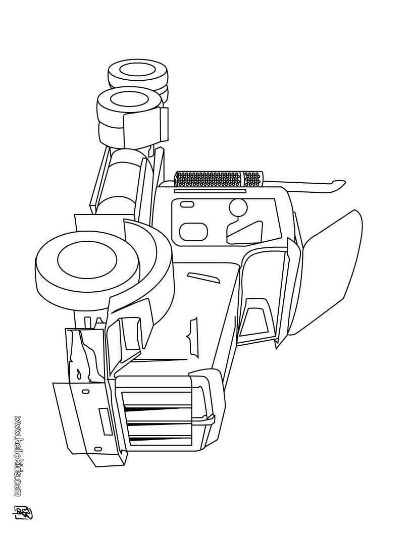 Desenhos Para Colorir De Desenho De Caminhões Para Colorir