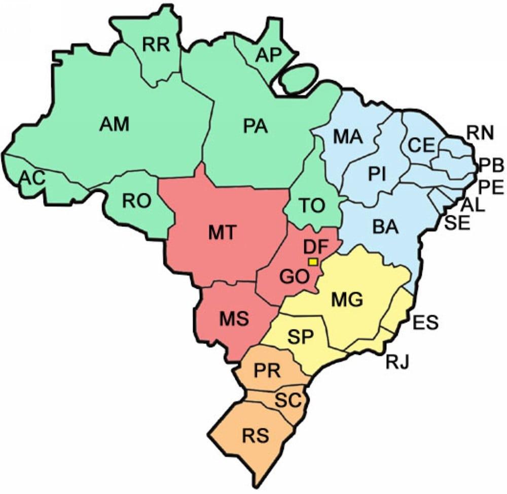 Mapa Do Brasil E Capitais – Trabalho De Escola