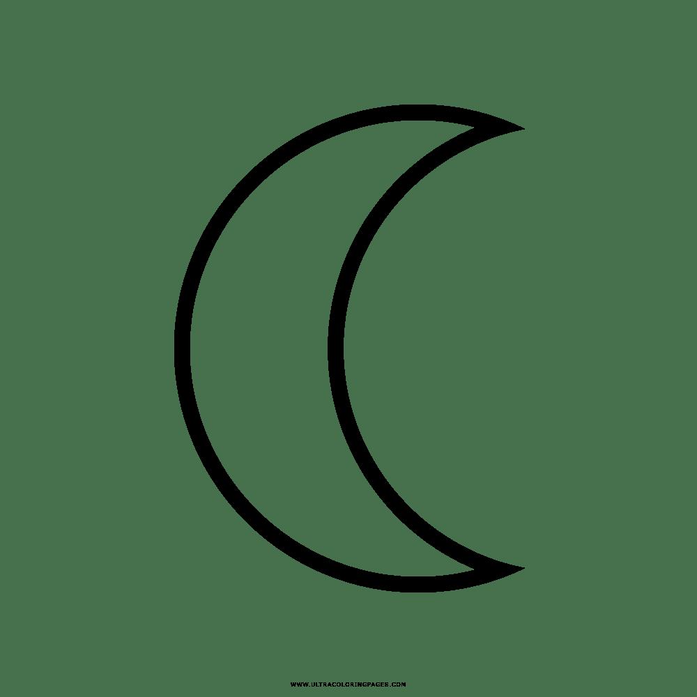 Lua Desenho Para Colorir