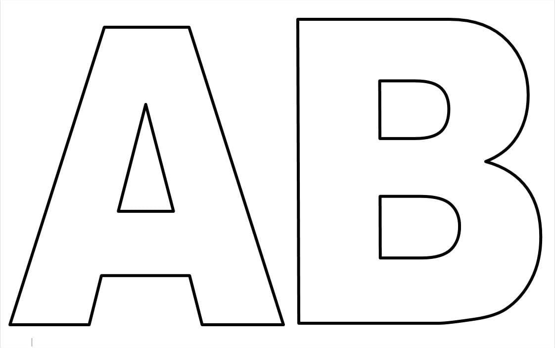 Moldes De Letras Do Alfabeto Para Imprimir E Colorir