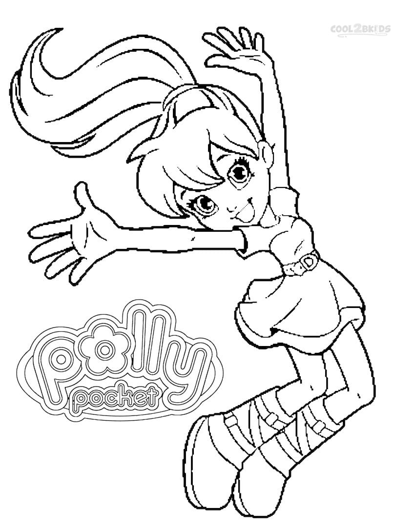Printable Polly Pocket Coloring Pages For Kids