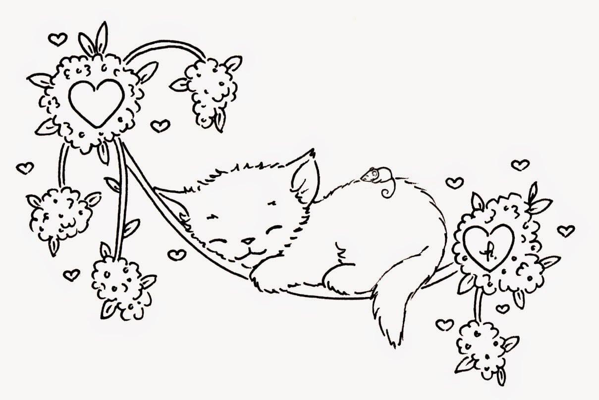 Desenhos Para Imprimir De Gatos
