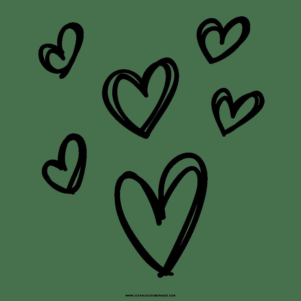 Corações Desenho Para Colorir