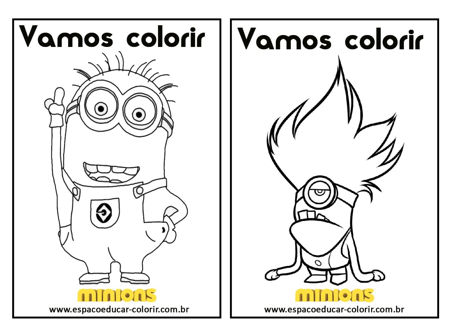 Livro De Colorir Dos Minions Grátis Para Imprimir! Revista De