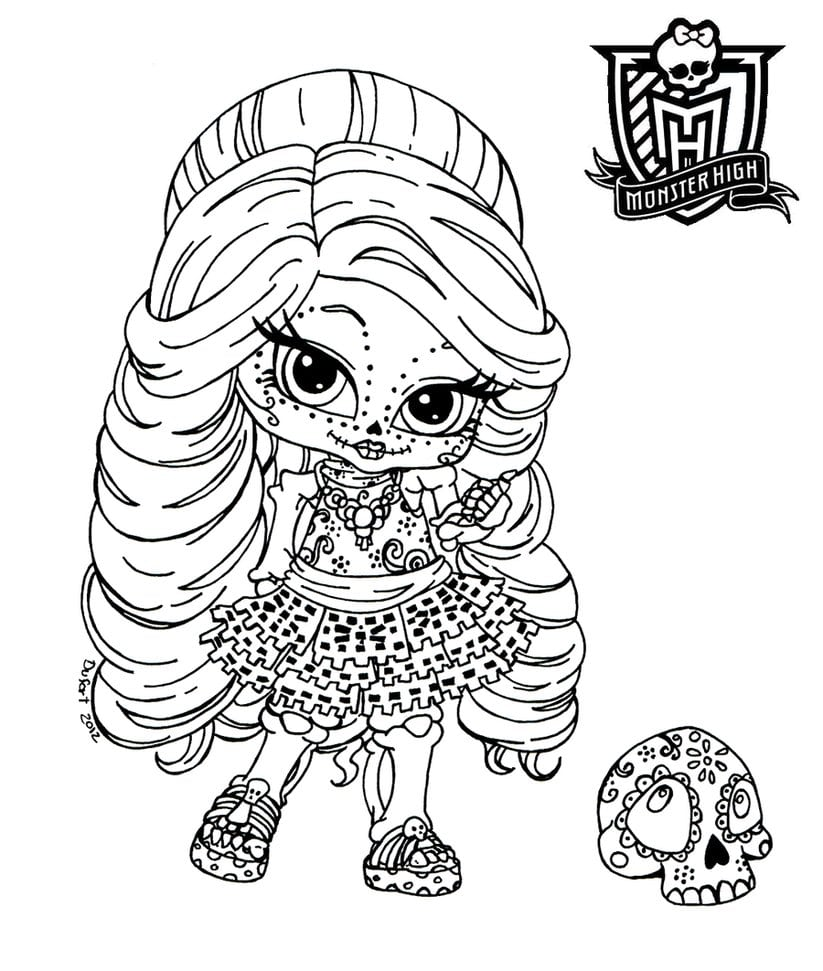 Part Of The Monster High Linearts Serie  I Know Skelita Doesn't
