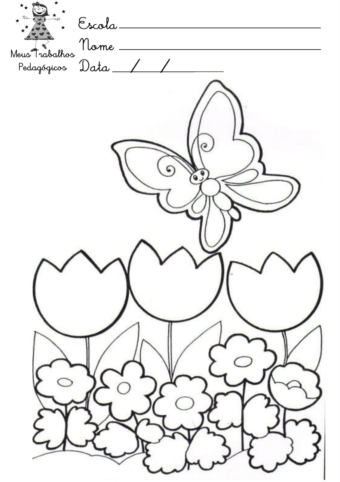 Desenhos Para Colorir E Imprimir Sobre A Primavera – Pampekids Net