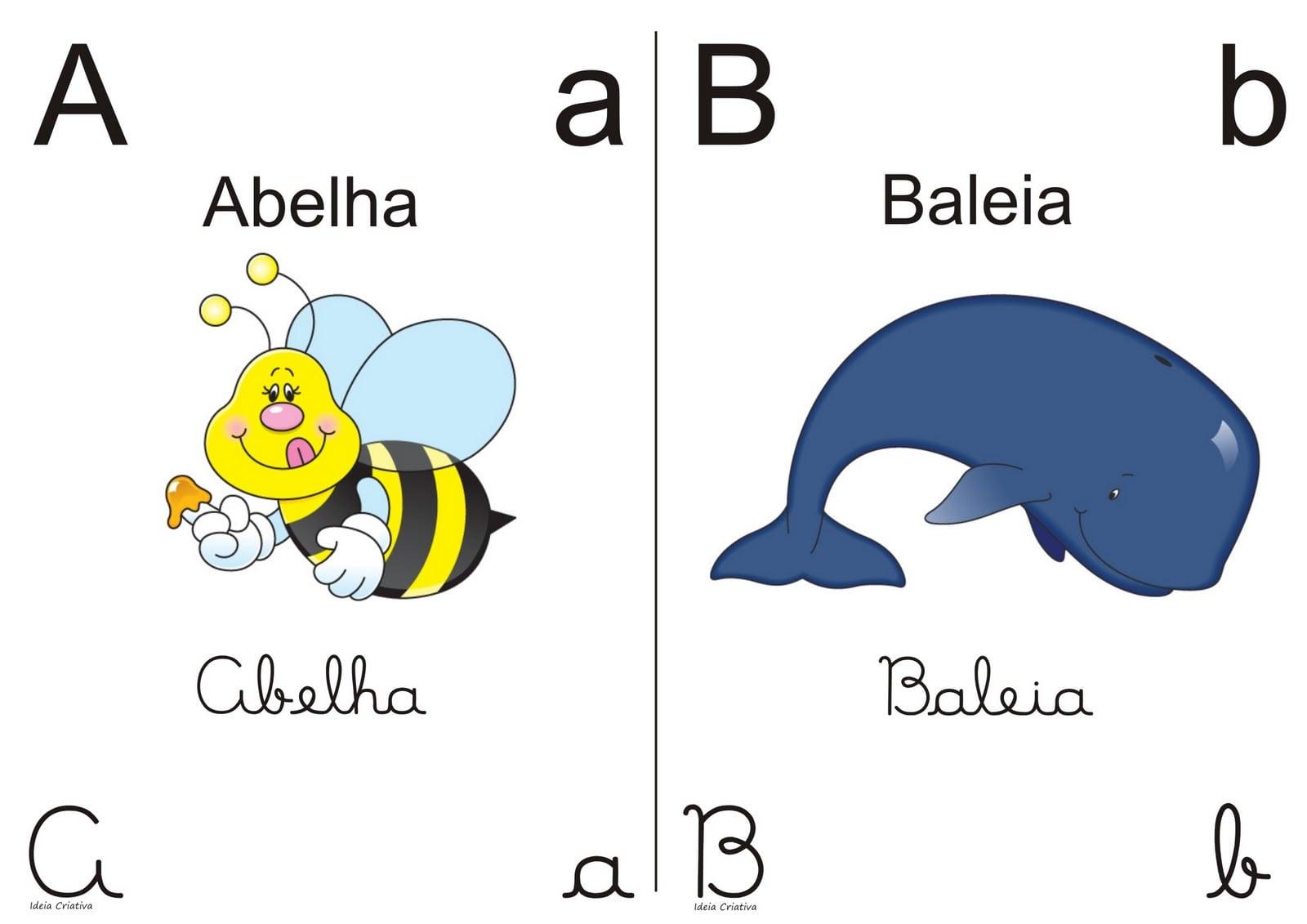 Alfabetos Ideia Criativa  Alfabeto Colorido Para Imprimir 1 2 Oficio