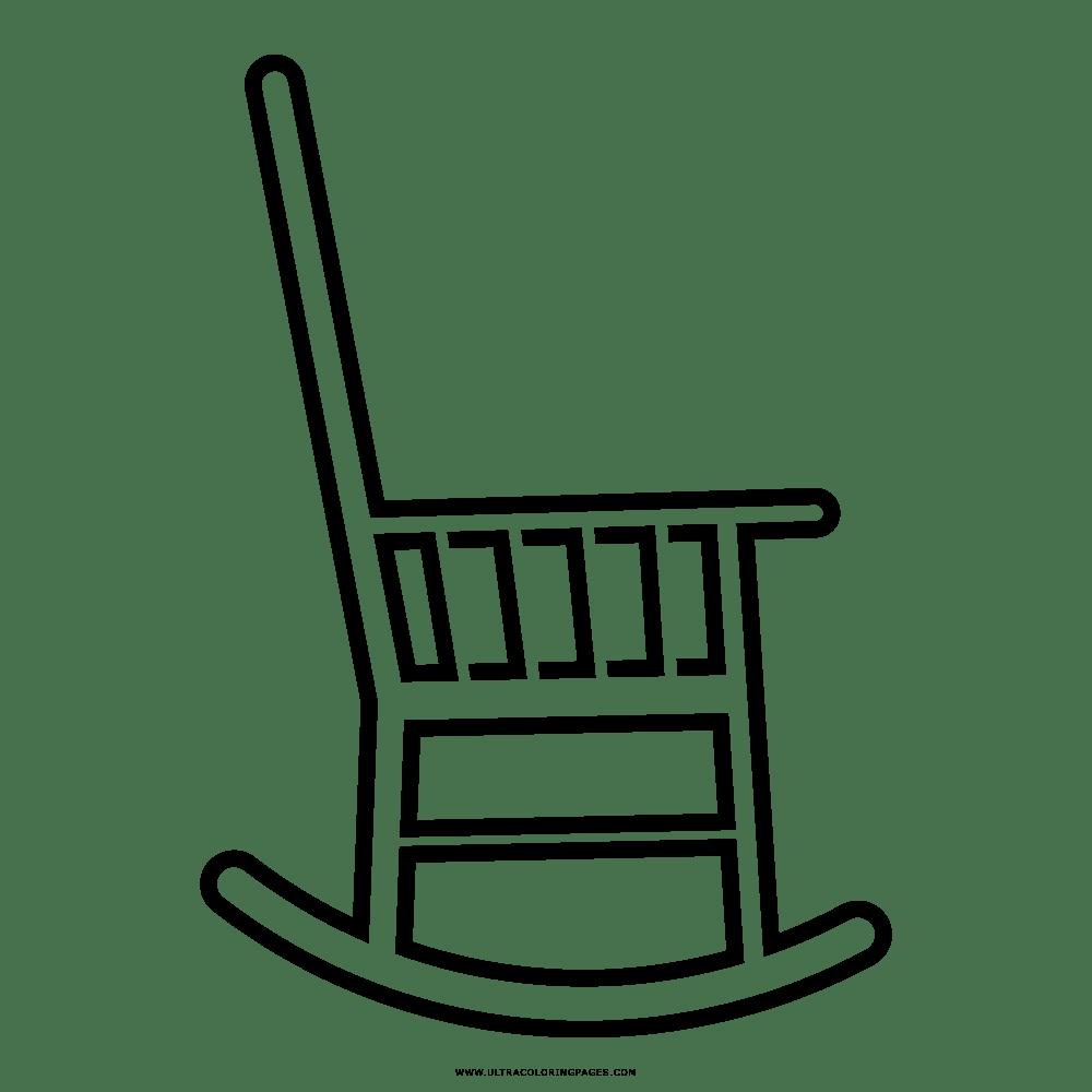 Cadeira De Balanço Desenho Para Colorir