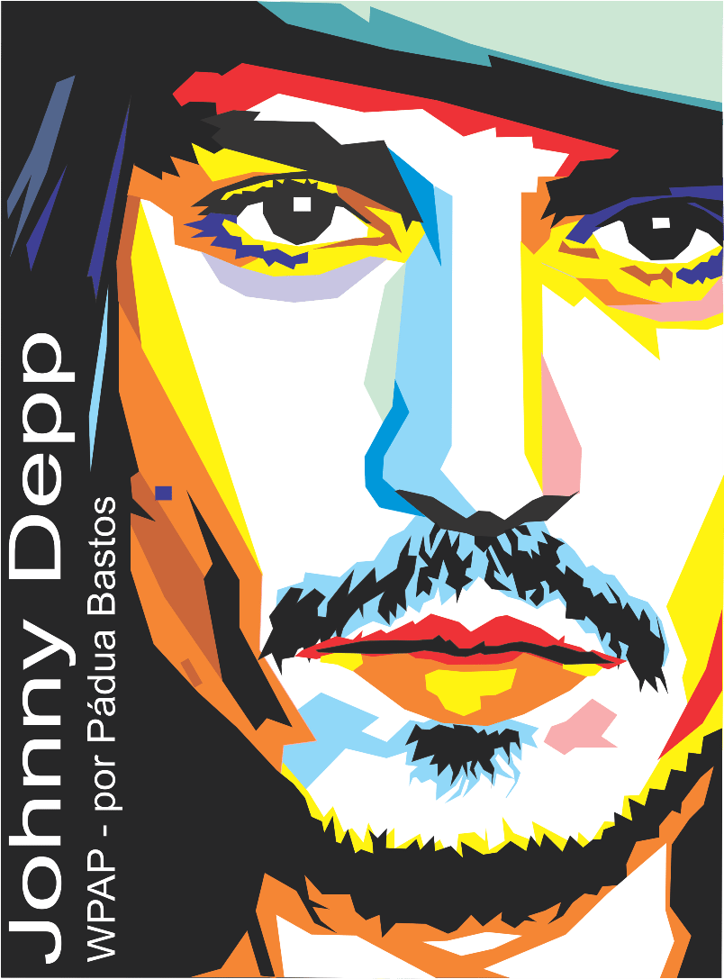 Pintando E Colorindo – Johnny Depp – Pop Art Vetor