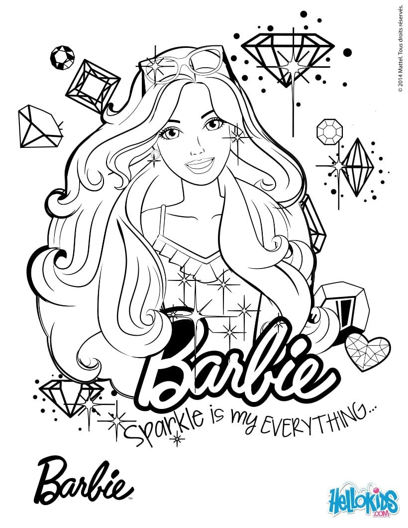 Barbie Para Colorir E Imprimir