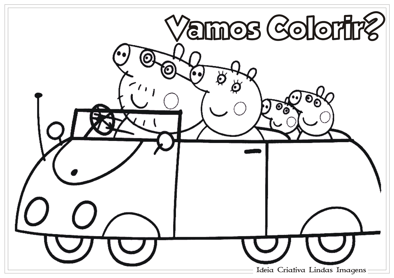Peppa Para Colorir E Imprimir