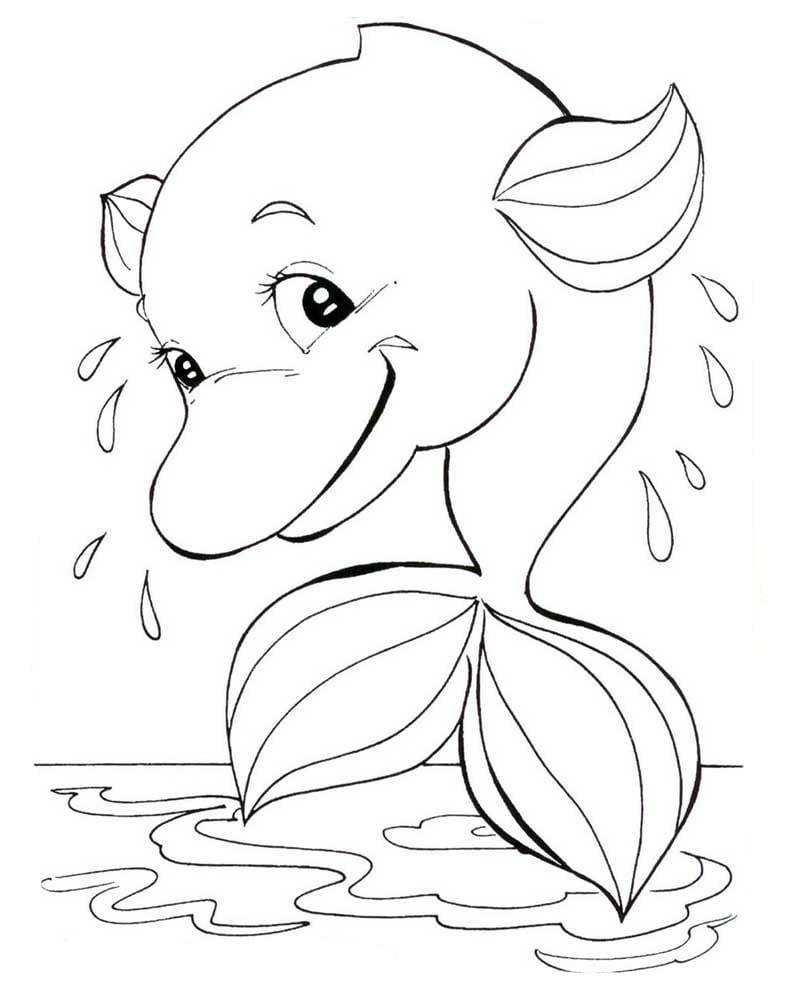 Desenho De Boto Rosa No Rio Amazonas Para Colorir