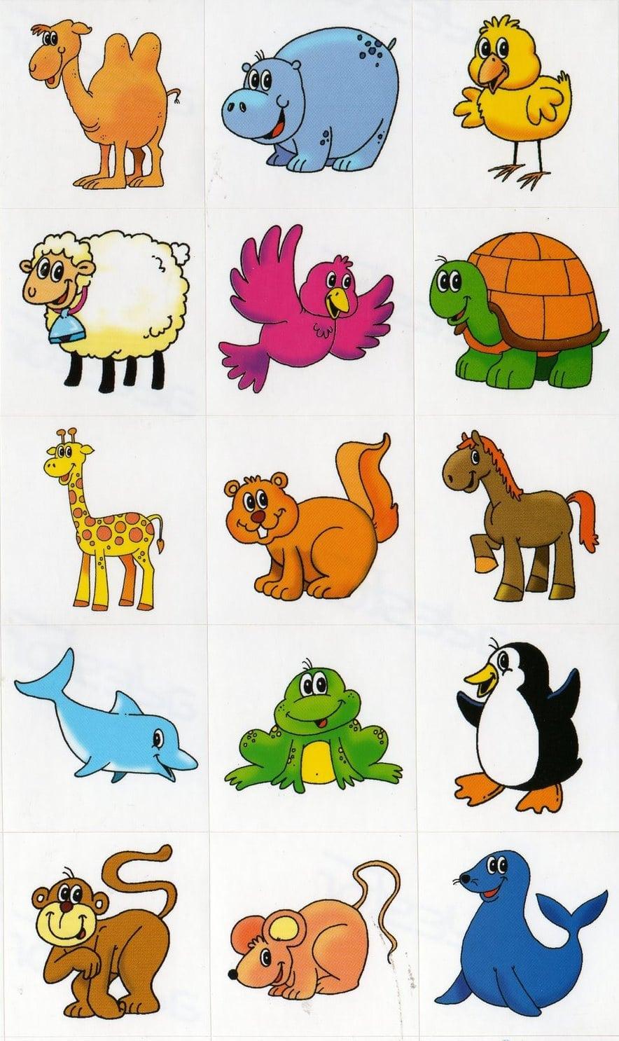 Desenhos Coloridos De Animais Para Imprimir
