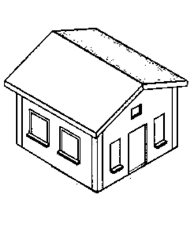 Figura De Casa Para Colorir