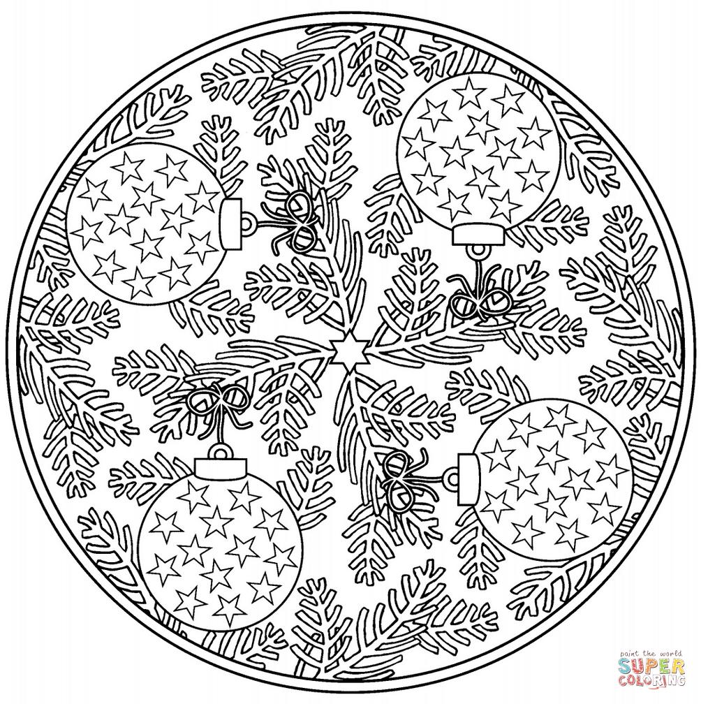Christmas Mandalas Coloring Pages