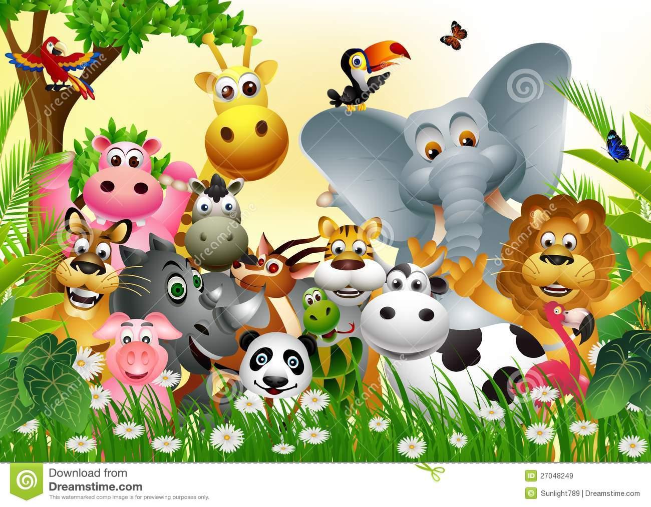 Coleção Animal Engraçada Dos Desenhos Animados Dos Animais