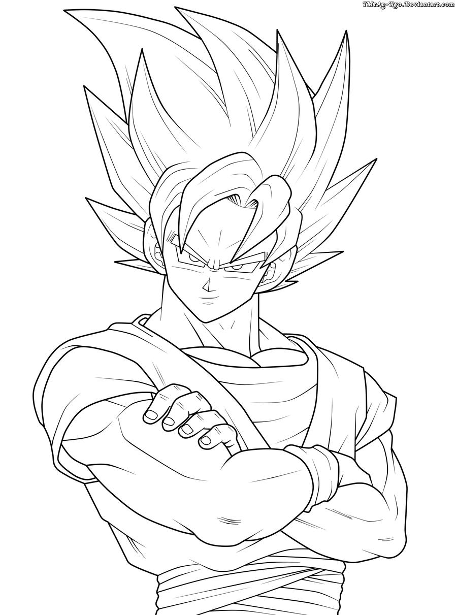 Colorir Goku Desenho Para Pintar 3