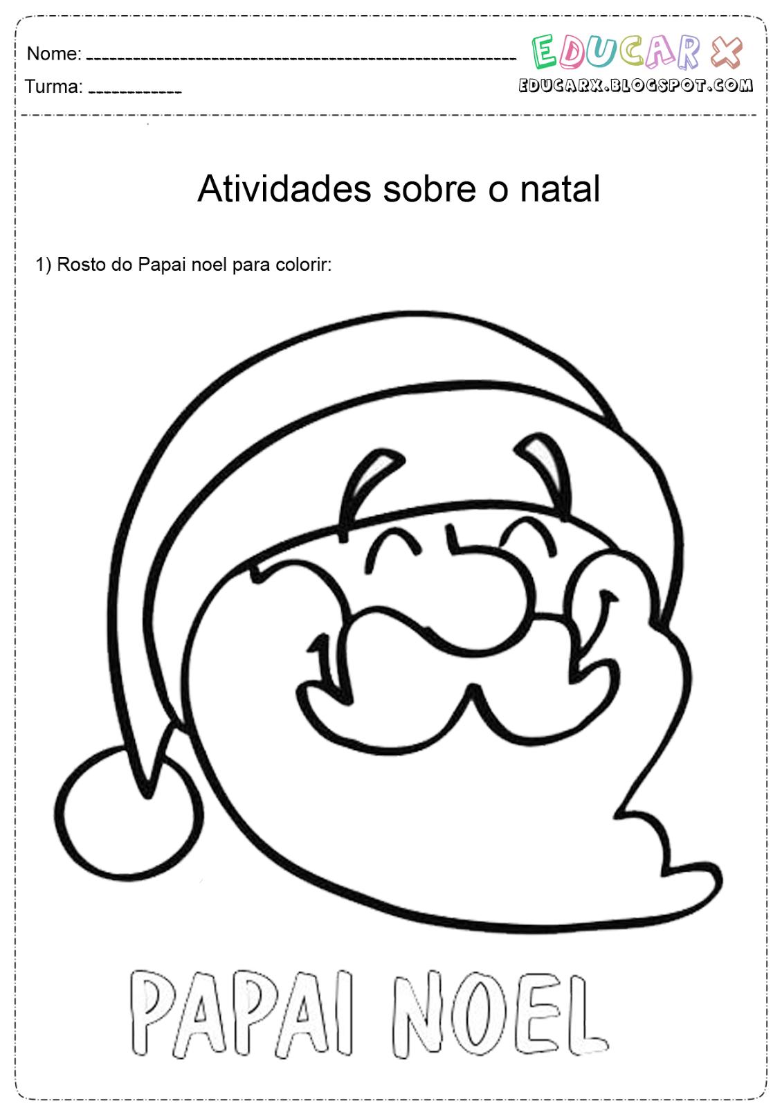 Imagens Do Papai Noel Para Imprimir