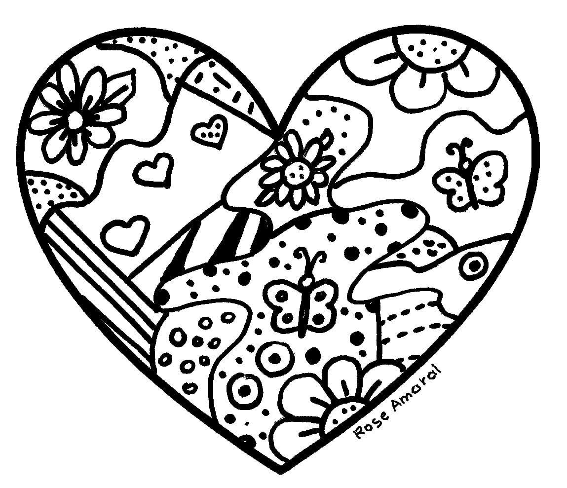 Coração Para Colorir E Pintar 15