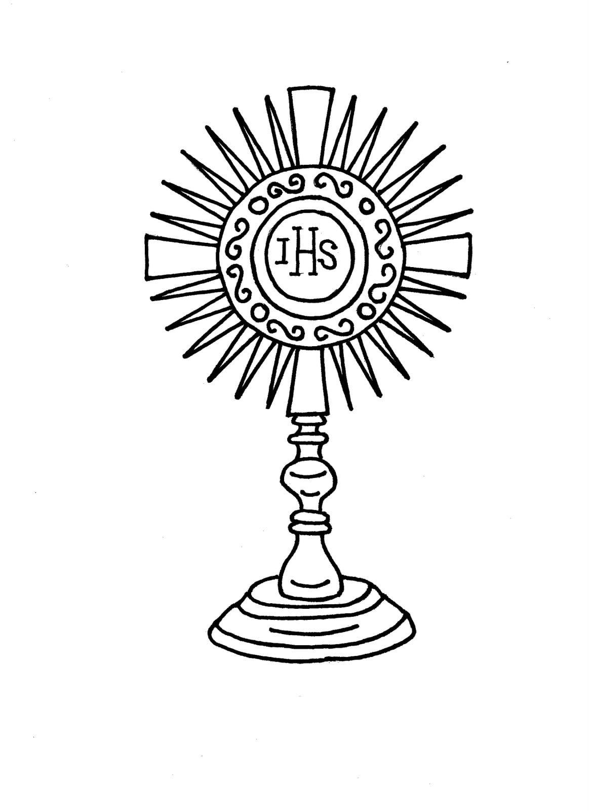 Desenho De Corpo De Cristo Para Colorir