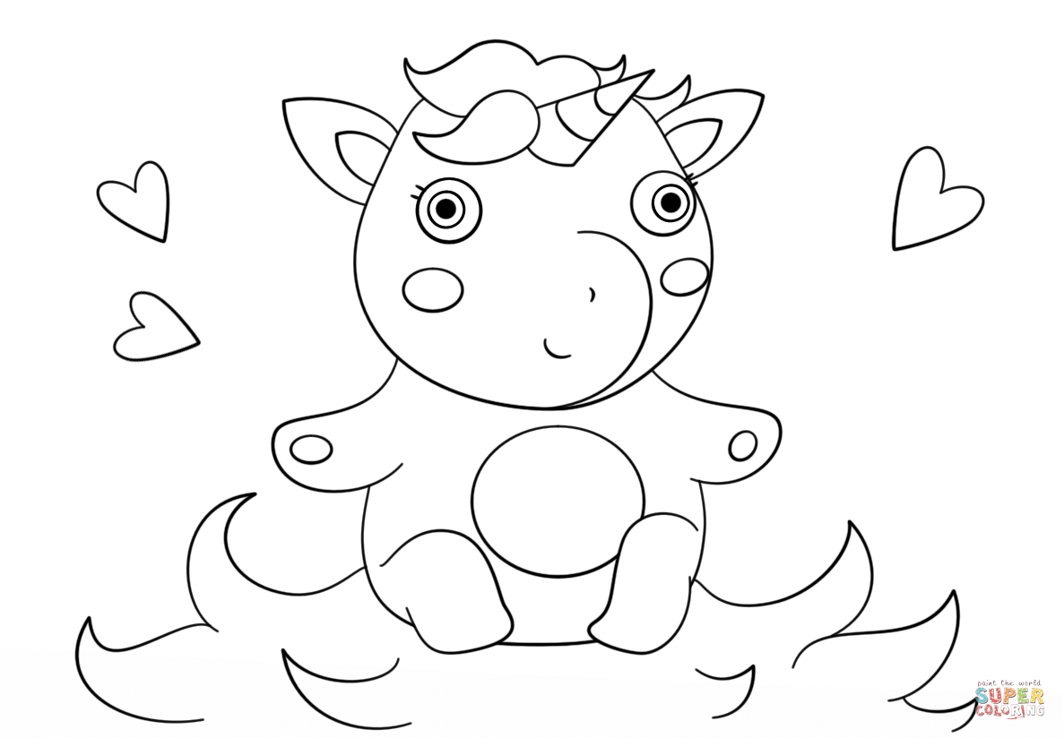 Desenho De Bebê Unicórnio Fofo Para Colorir