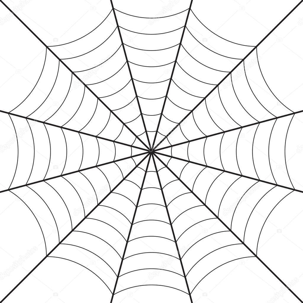 Desenho De Teia De Aranha — Vetores De Stock © Igarts  54563551
