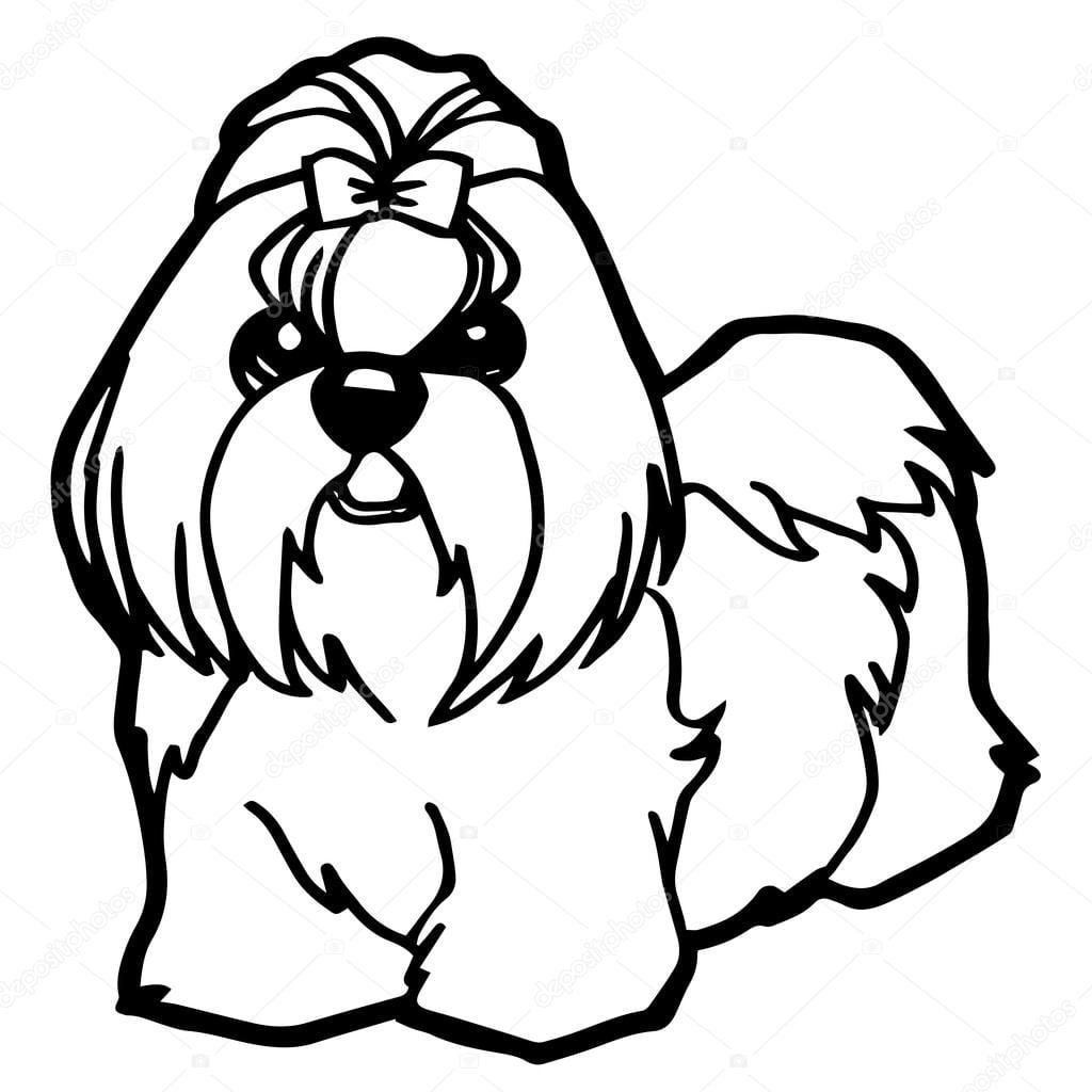 Ilustração Dos Desenhos Animados De Cachorro Engraçado Para Livro