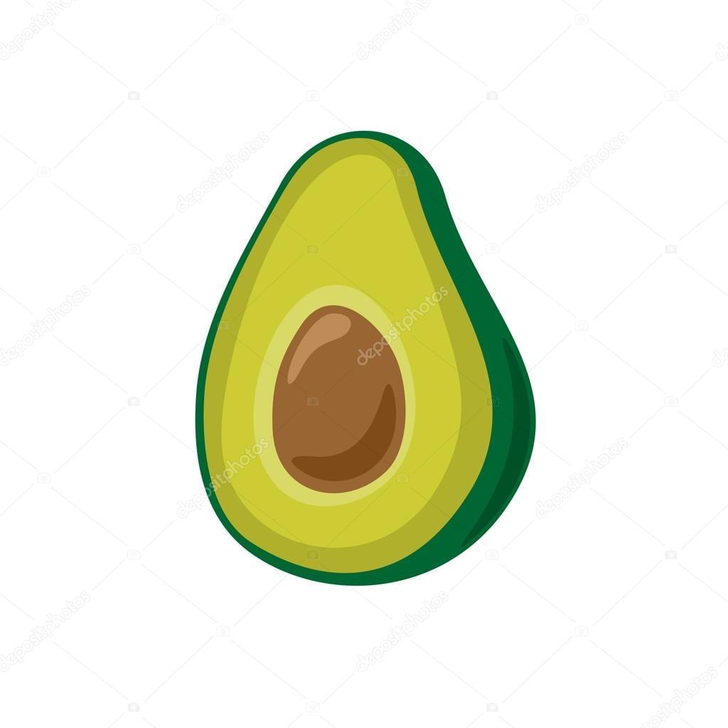 Vetor De Abacate Simples Dos Desenhos Animados — Stock Photo