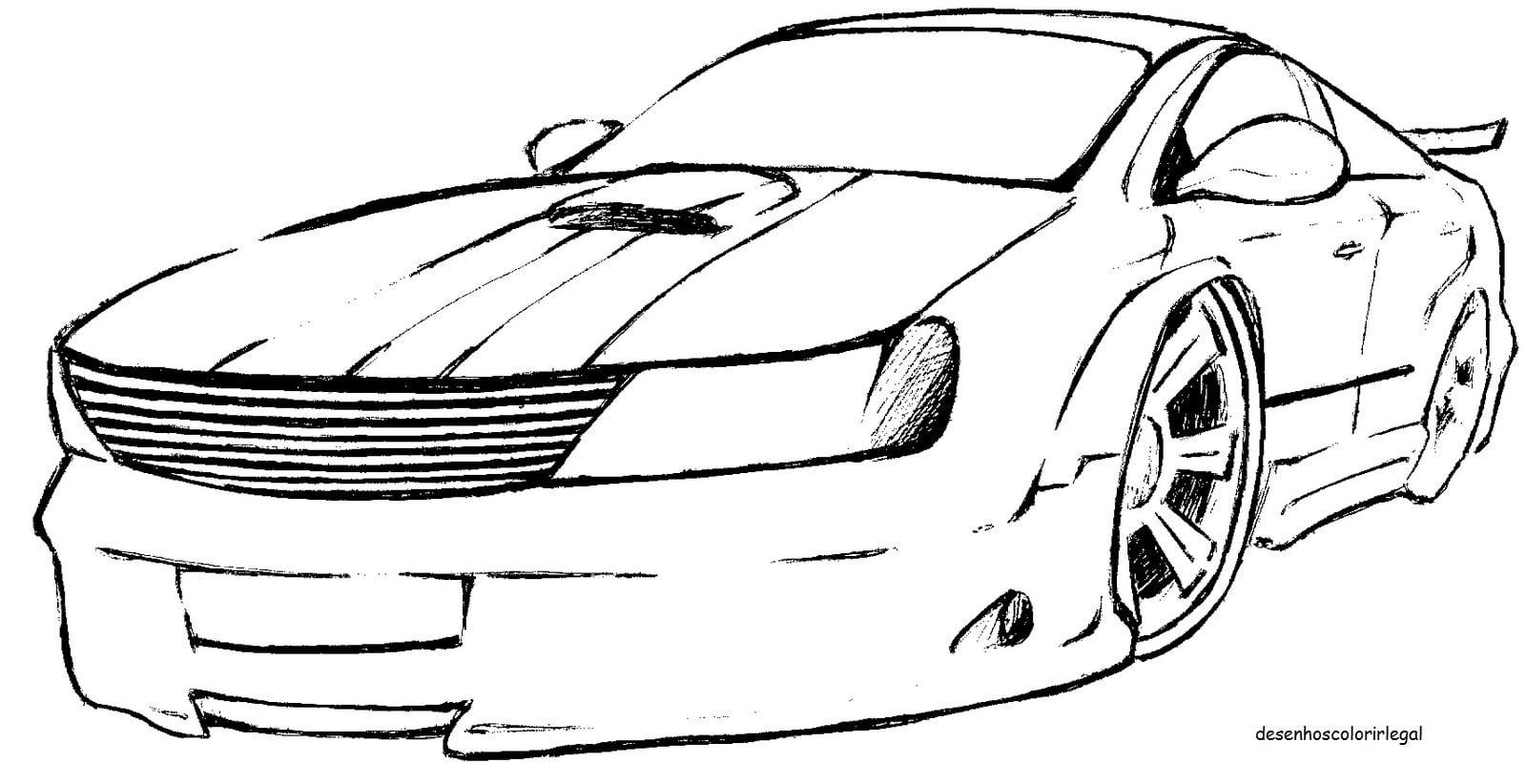 Fabuloso Desenho De Carros Para Imprimir AZ93