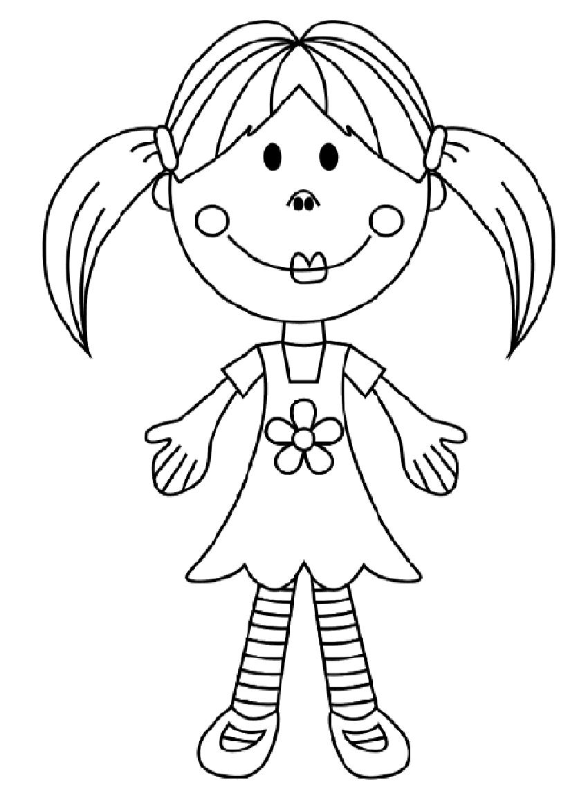 Desenho De Boneca Para Colorir – Pampekids Net