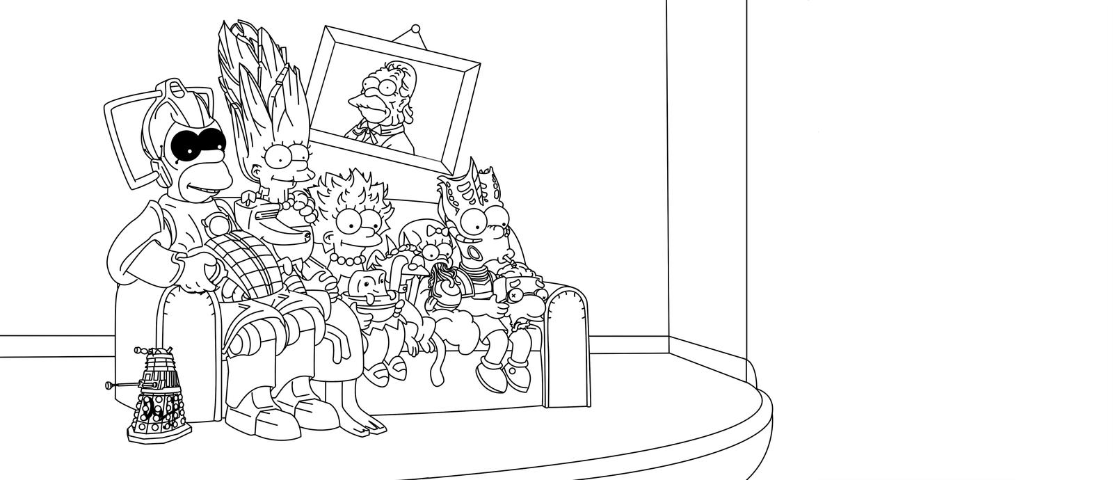 Desenhos Dos Simpsons Para Imprimir