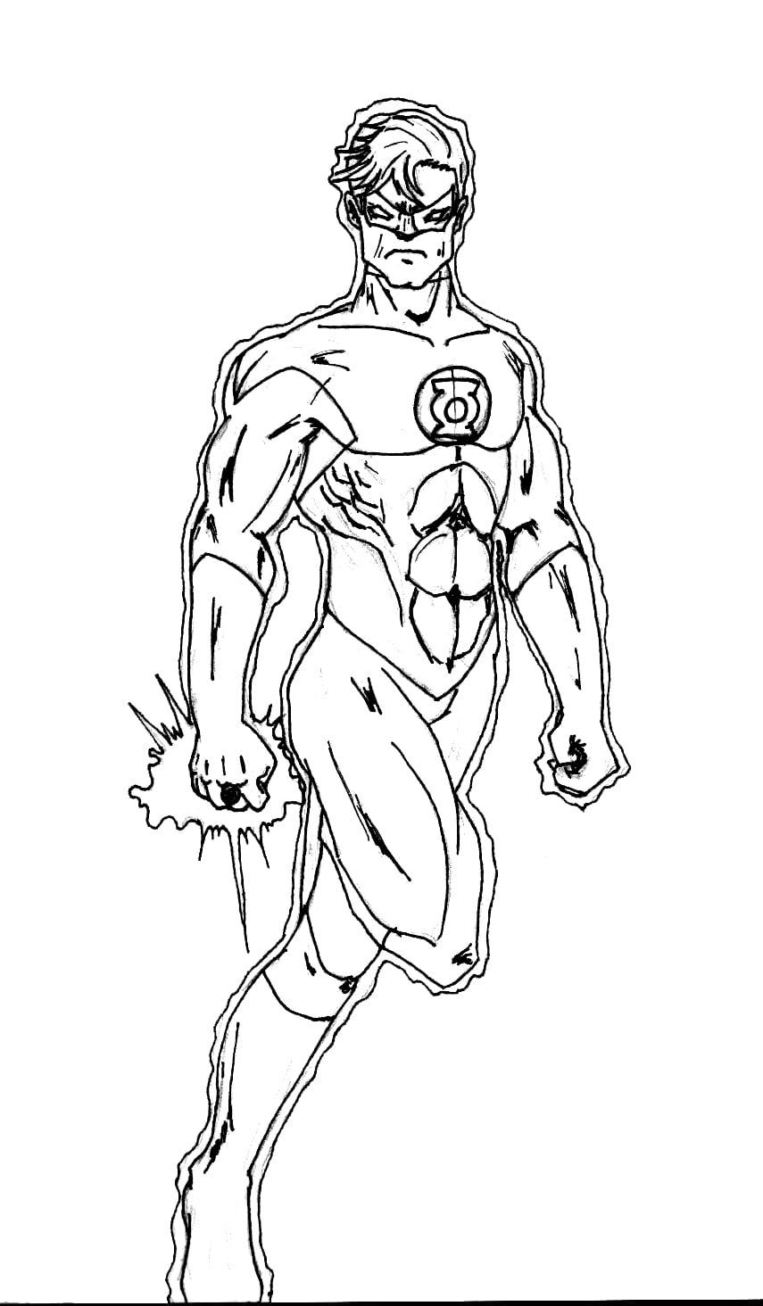 Desenho Do Lanterna Verde