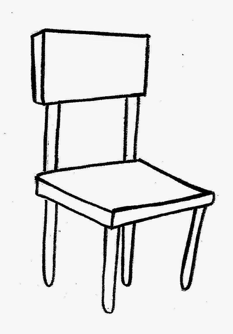 Cadeira Para Colorir