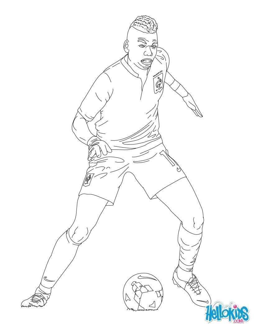 Desenhos Para Colorir Do Jogador Neymar