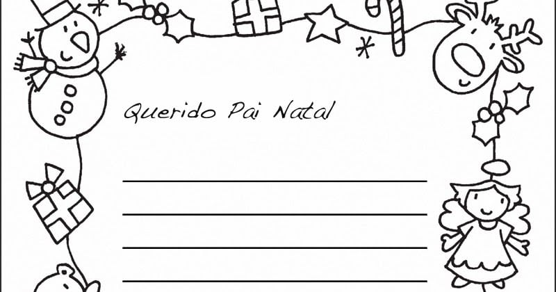 Carta Para O Papai Noel Para Imprimir