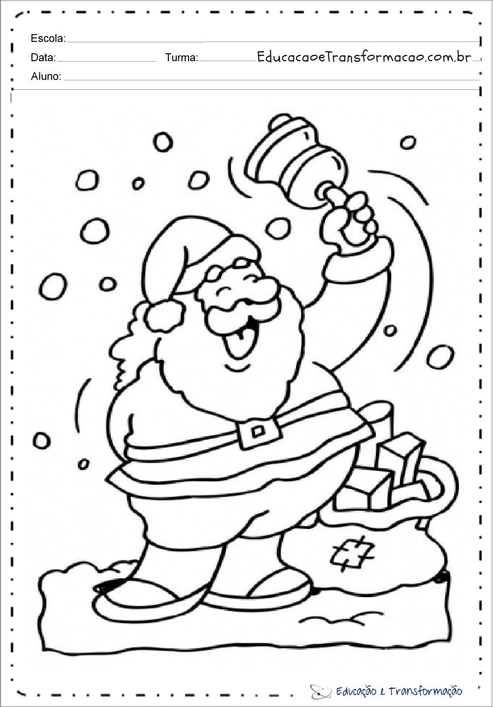 De Papai Noel Para Colorir