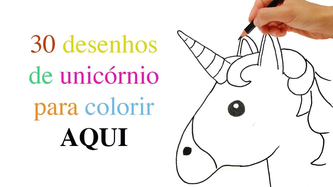 30 Desenhos De Unicórnio Para Colorir, Pintar E Imprimir