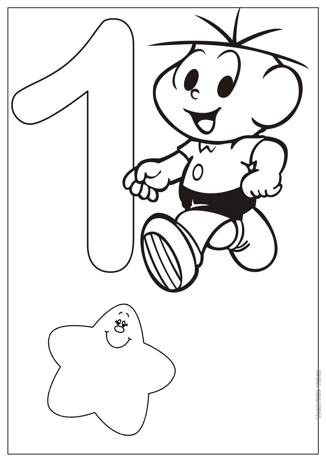 Desenhos De Números Para Colorir