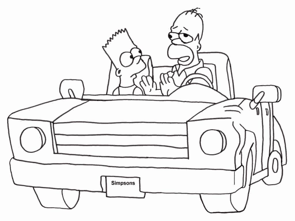 Desenhos Simpsons Para Imprimir E Colorir