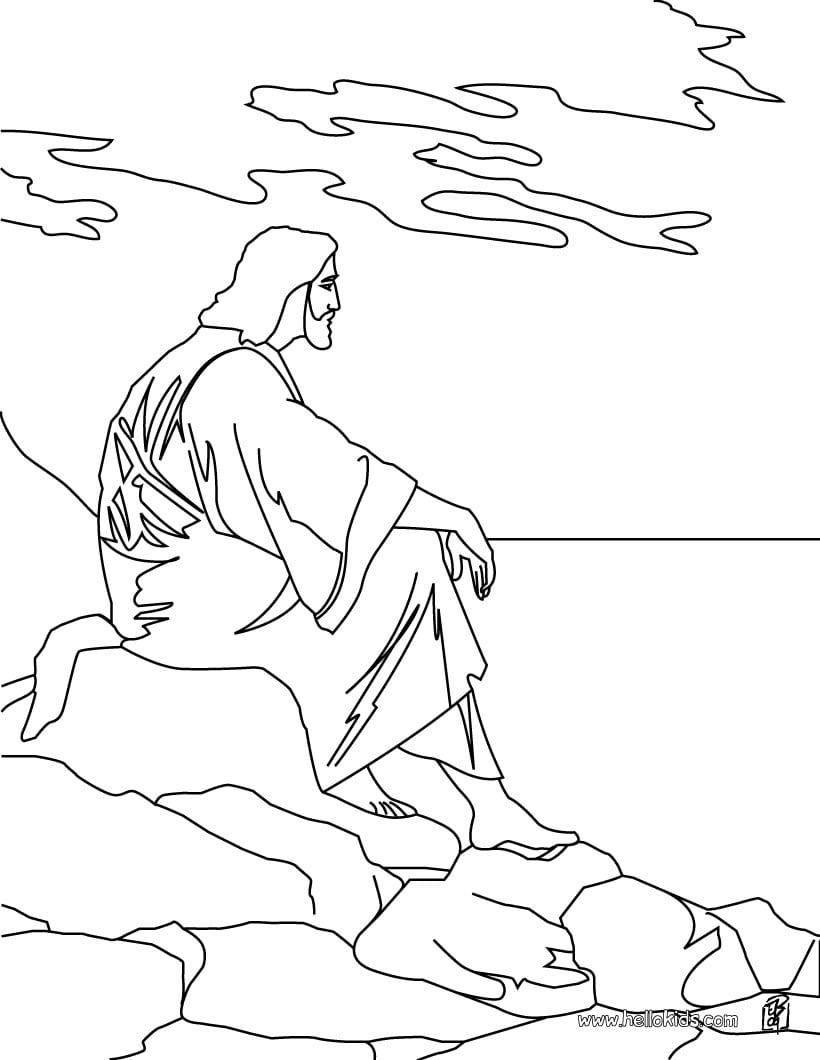 Imagens De Jesus Cristo Para Colorir – Pampekids Net