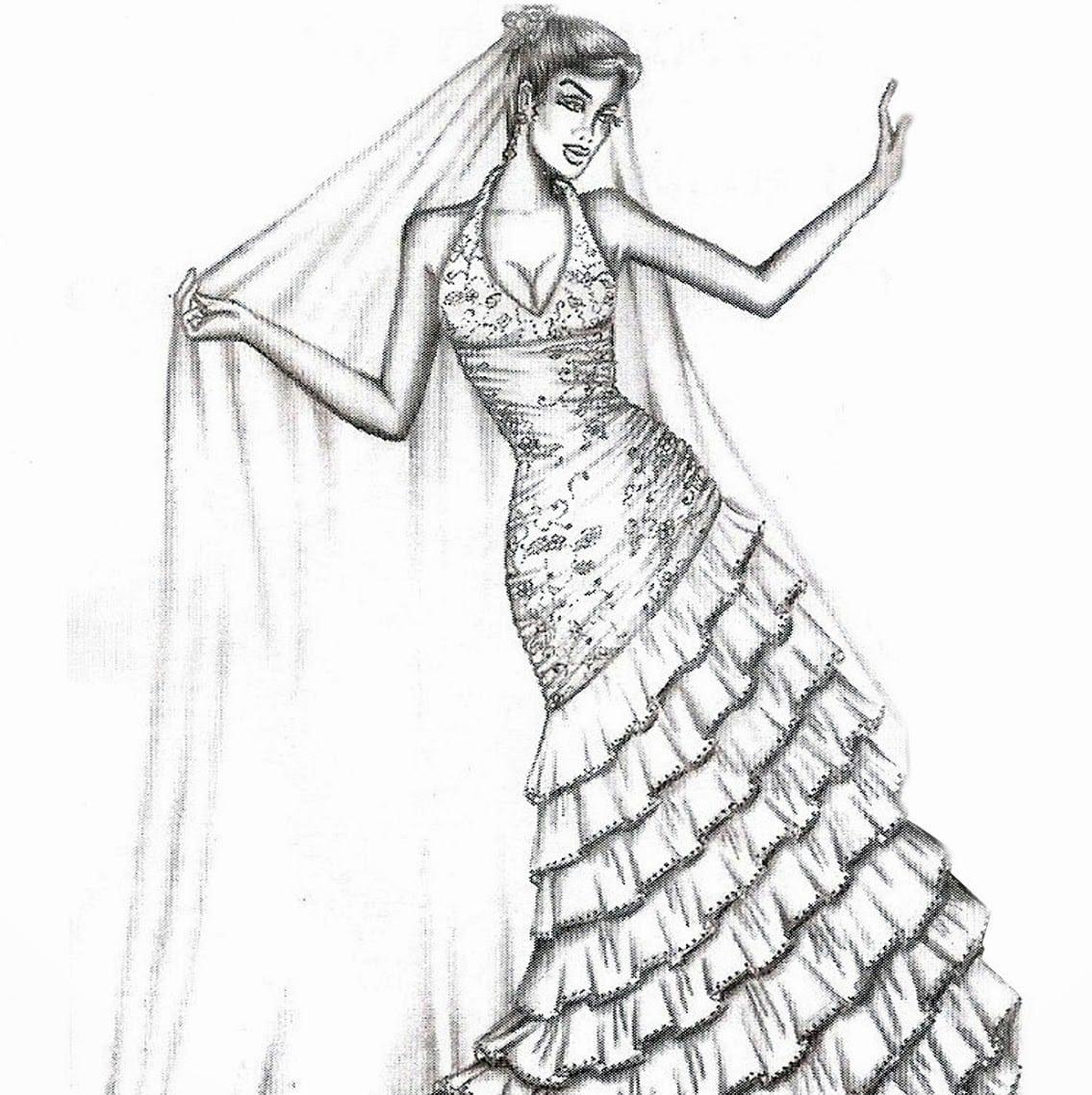 Desenho De Vestidos Para Colorir
