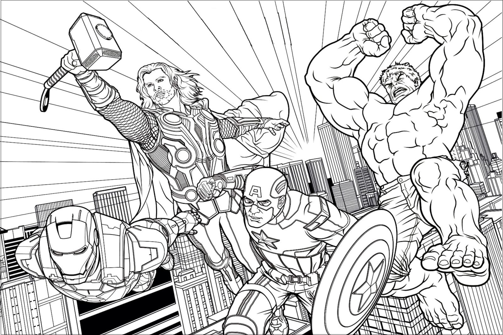 Desenhos Para Colorir Avengers