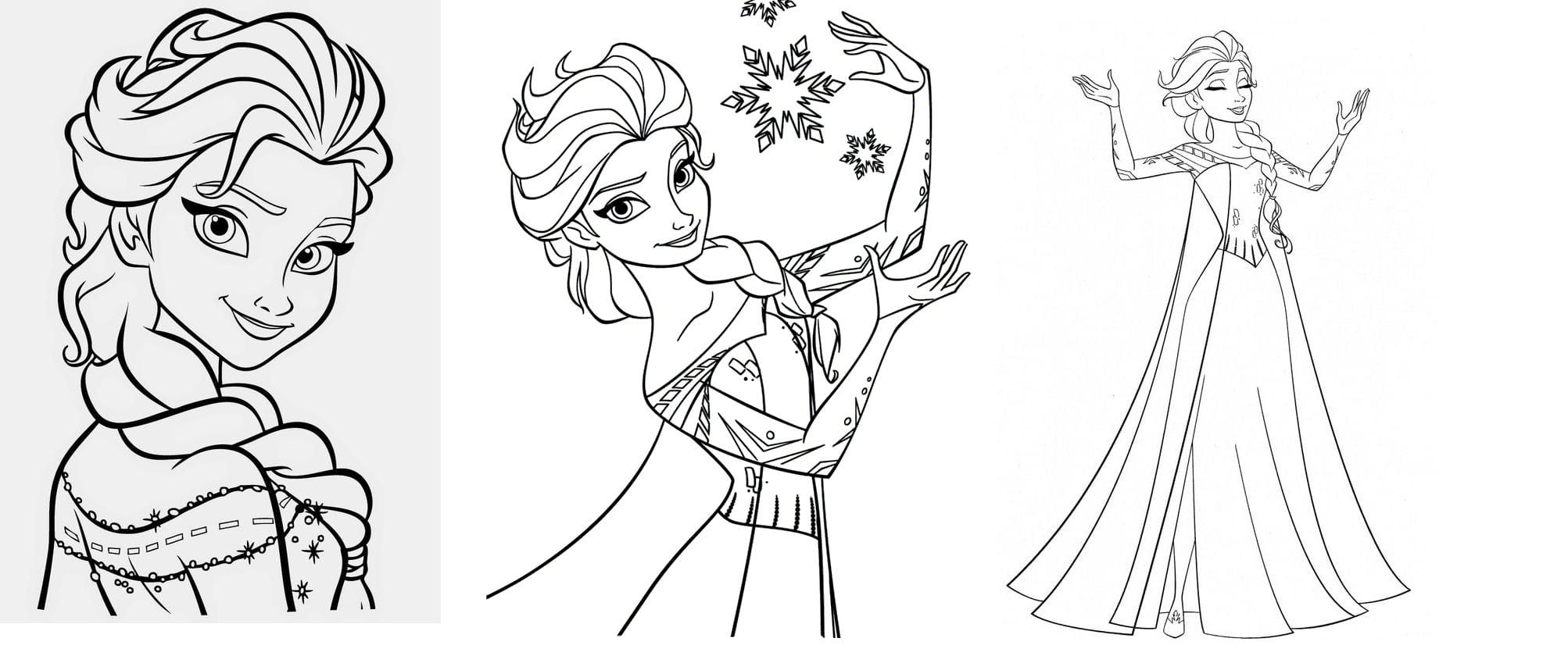 Desenhos Para Pintar De Frozen