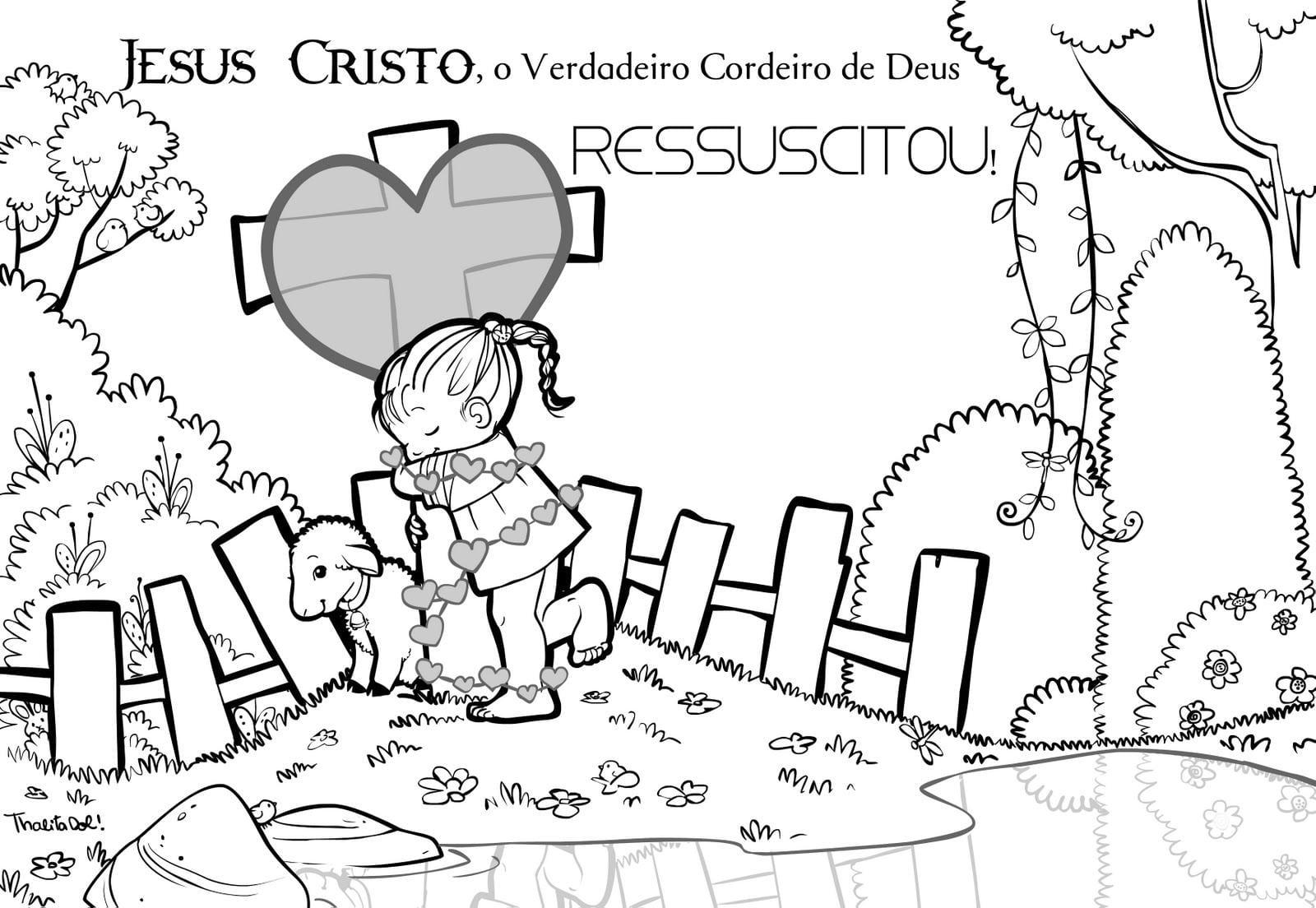 Imagem De Jesus Ressuscitado Para Colorir