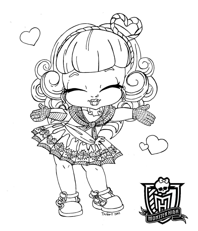 Desenho Para Colorir Da Monster High Baby
