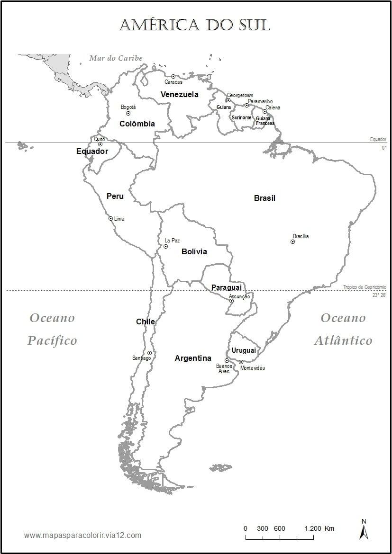 Mapa Pol Tico Da Am Rica Do Sul Para Colorir – Pampekids Net