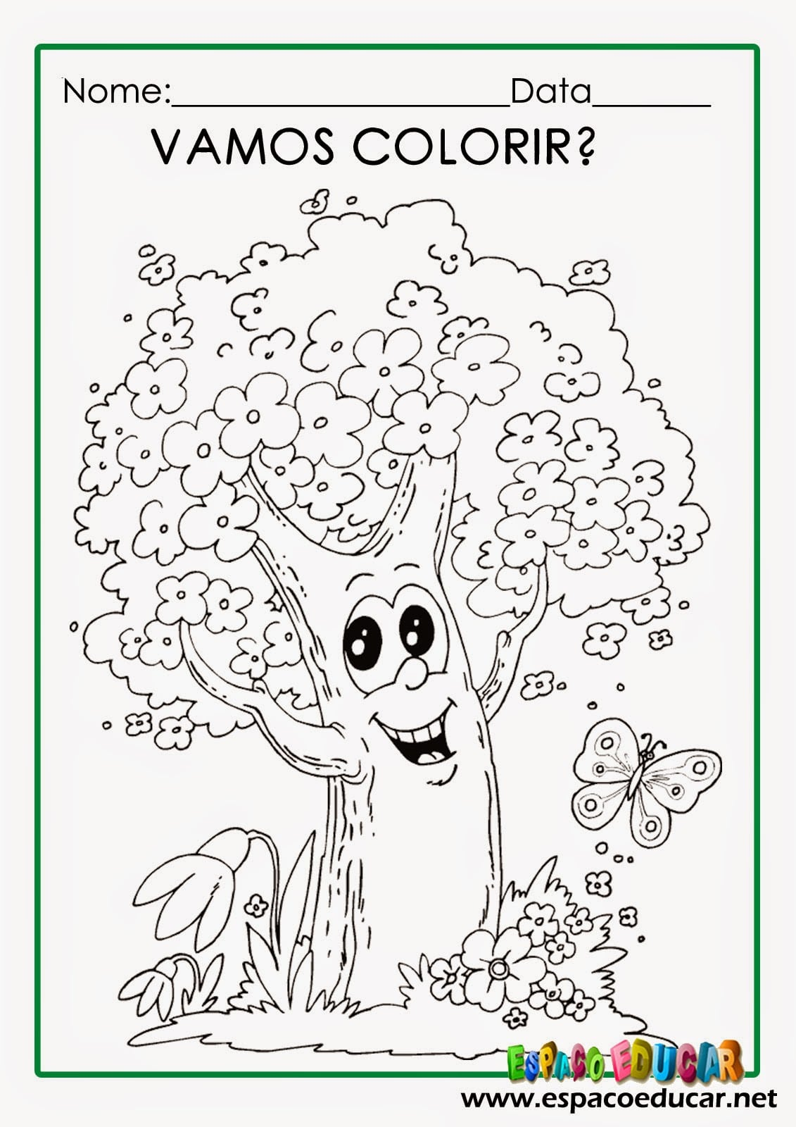 Dia Da árvore  Desenhos Para Colorir, Pintar, Imprimir! ~ EspaÇo
