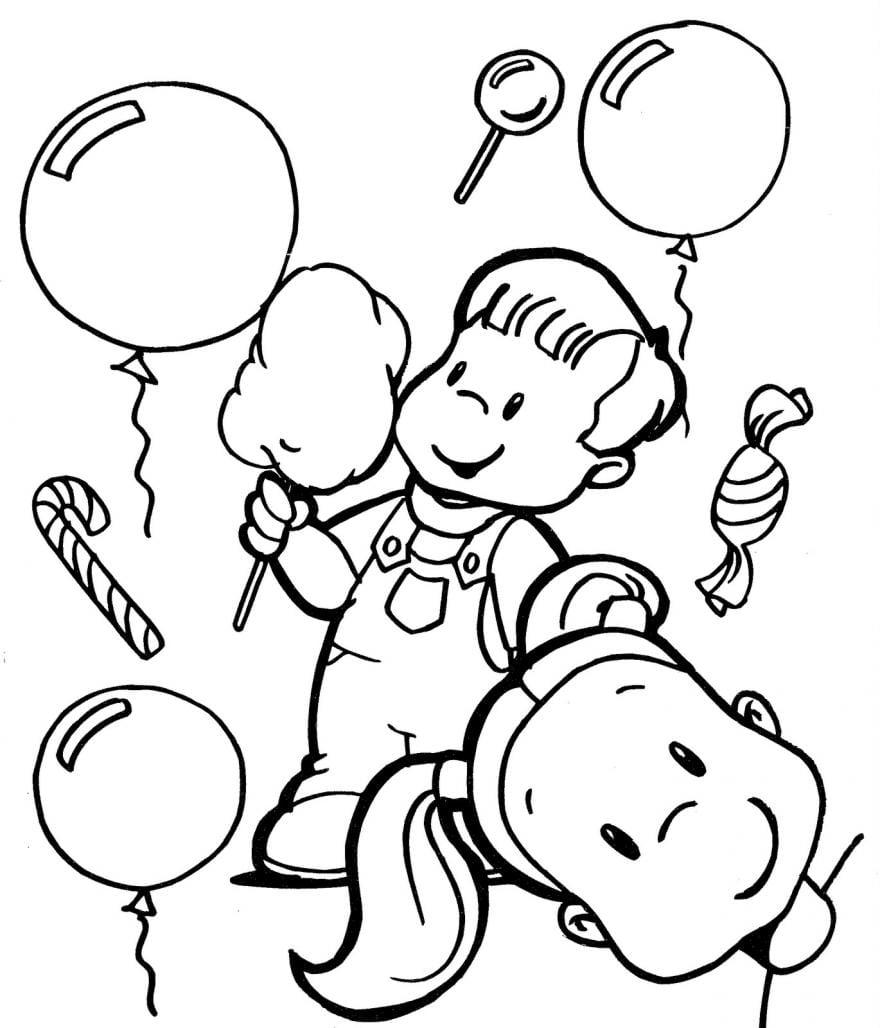 Dia Das CrianÇas Desenhos Para Colorir E Pintar